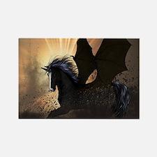 Beautiful dark unicorn Magnets