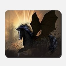 Beautiful dark unicorn Mousepad