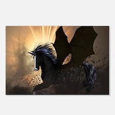 Beautiful dark unicorn Postcards (Package of 8)