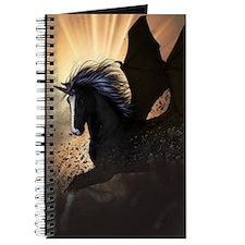 Beautiful dark unicorn Journal