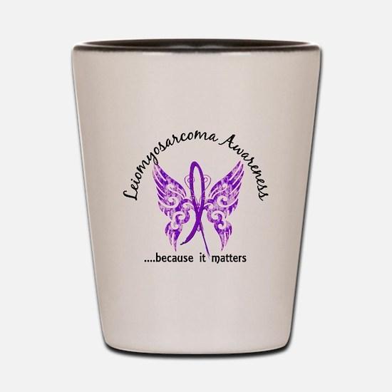 Leiomyosarcoma Butterfly 6.1 Shot Glass