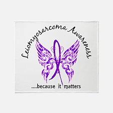 Leiomyosarcoma Butterfly 6.1 Throw Blanket