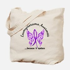 Leiomyosarcoma Butterfly 6.1 Tote Bag