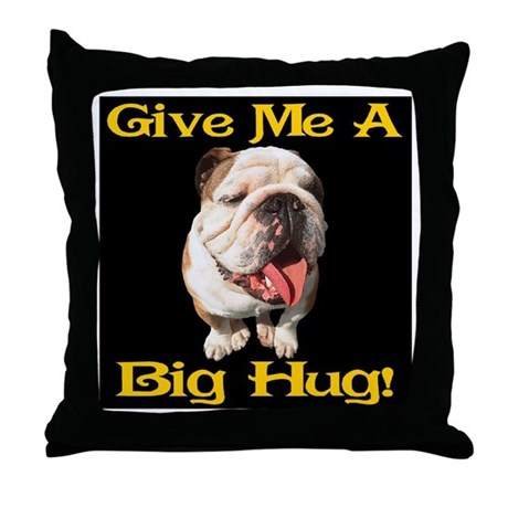 Throw Me A Pillow : Give Me A Big Hug! Throw Pillow by bytelandart