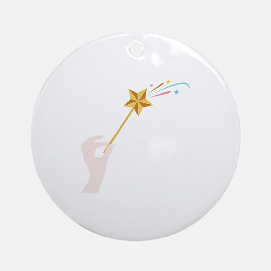 Magic Wand Ornament (Round)