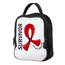 Heart Attack Survivor 12 Neoprene Lunch Bag
