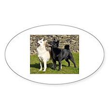 Norwegian Buhund Pair Decal