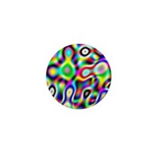 Crazy Rainbow Colors Mini Button