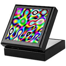 Crazy Rainbow Colors Keepsake Box