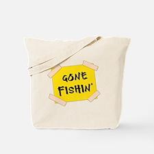 Gone Fishin' Sign Tote Bag