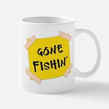 Gone Fishin' Sign Mug