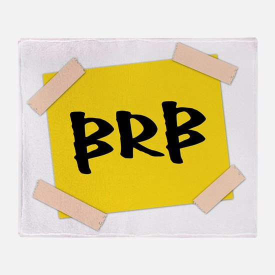 BRB - Sign Throw Blanket