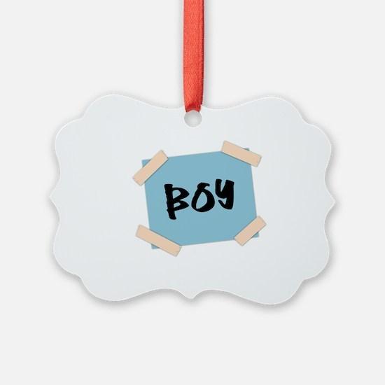 Boy Sign Ornament