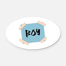 Boy Sign Oval Car Magnet