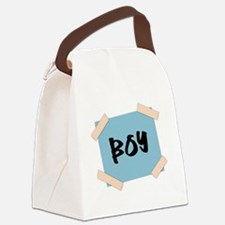 Boy Sign Canvas Lunch Bag