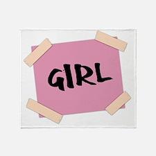 Girl Sign Throw Blanket