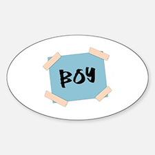 Boy Sign Sticker (Oval)