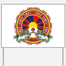 Free Tibet Snow Lions Yard Sign