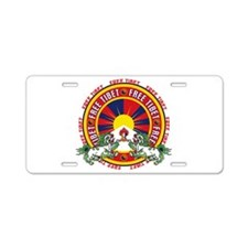 Free Tibet Snow Lions Aluminum License Plate