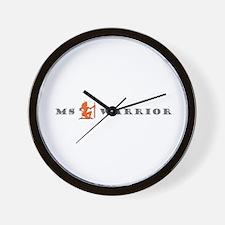 Groovy MS Warrior Grey Orange Wall Clock