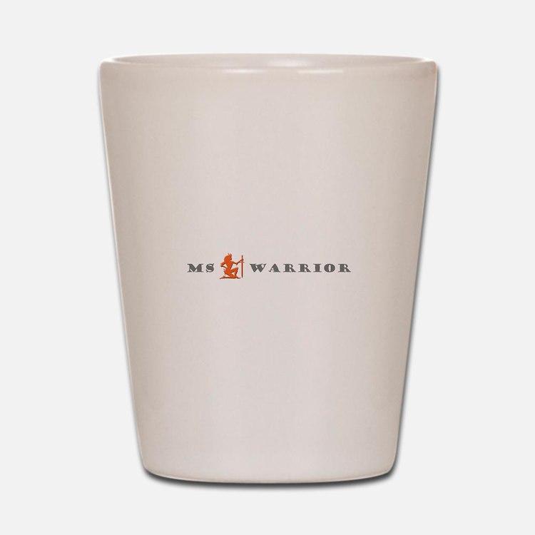 Groovy MS Warrior Grey Orange Shot Glass