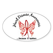Heart Disease Butterfly 6.1 Decal