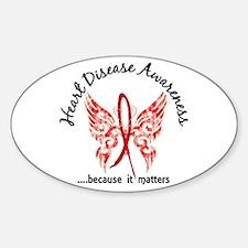 Heart Disease Butterfly 6.1 Sticker (Oval)