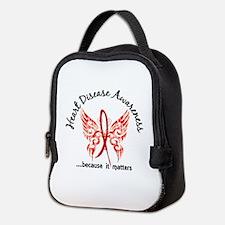 Heart Disease Butterfly 6.1 Neoprene Lunch Bag