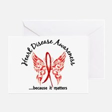 Heart Disease Butterfly 6.1 Greeting Card