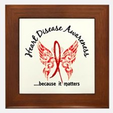 Heart Disease Butterfly 6.1 Framed Tile