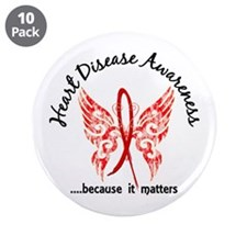 "Heart Disease Butterfly 6.1 3.5"" Button (10 pack)"