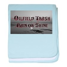 Oilfield Rain or Shine baby blanket