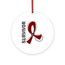 Head Neck Cancer Survivor 12 Ornament (Round)