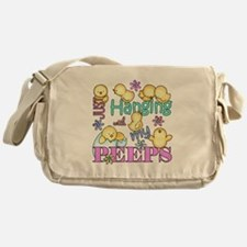 Just Hanging With My Peeps Messenger Bag