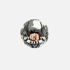 MS Warrior Woman Mini Button