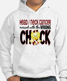 Head Neck Cancer MessedWithWrong Hoodie