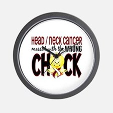 Head Neck Cancer MessedWithWrongChick1 Wall Clock