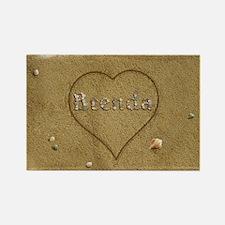 Brenda Beach Love Rectangle Magnet