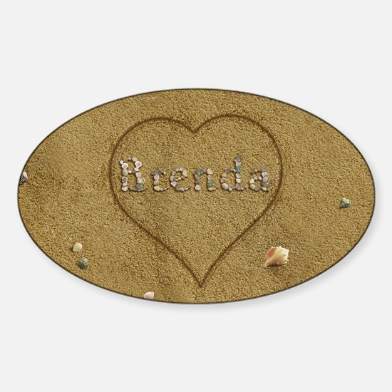 Brenda Beach Love Sticker (Oval)