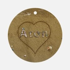 Aron Beach Love Ornament (Round)
