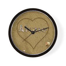 Alvaro Beach Love Wall Clock
