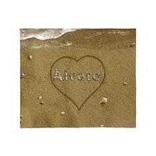 Alvaro Beach Love Throw Blanket