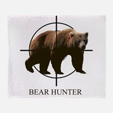 Bear Hunter Throw Blanket
