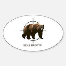 Bear Hunter Sticker (oval)