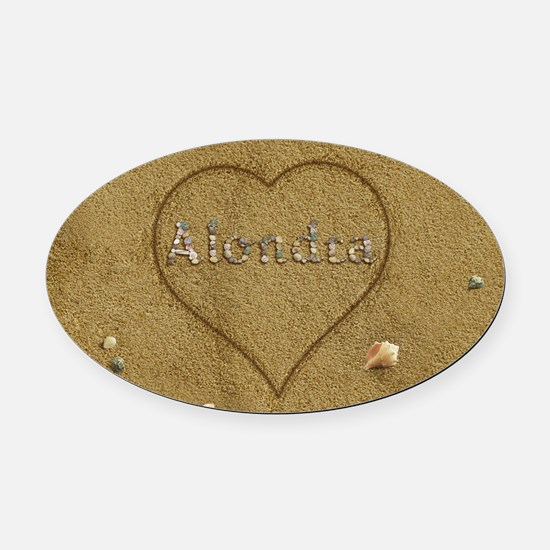 Alondra Beach Love Oval Car Magnet