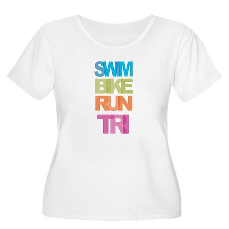 SWIM BIKE RUN TRI Plus Size T-Shirt