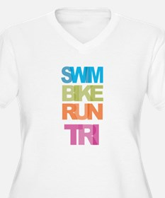 SWIM BIKE RUN TRI Plus Size T-Shirt
