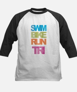 SWIM BIKE RUN TRI Baseball Jersey