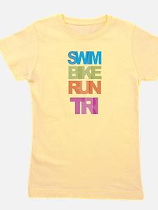 SWIM BIKE RUN TRI Girl's Tee