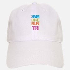 SWIM BIKE RUN TRI Baseball Baseball Cap